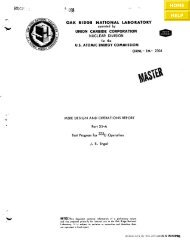 MSRE Design and Operations Report Part XI-A Test Program for ...