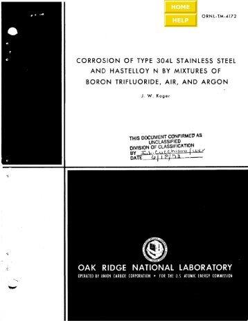 ORNL-TM-4172 - the Molten Salt Energy Technologies Web Site