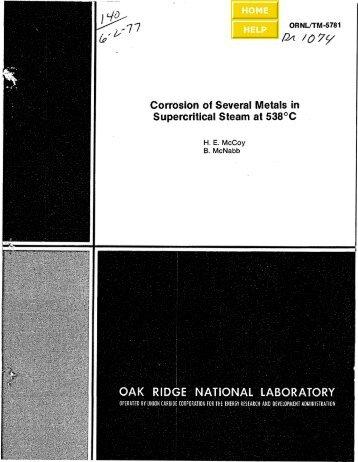 ORNL/TM-5781 - the Molten Salt Energy Technologies Web Site