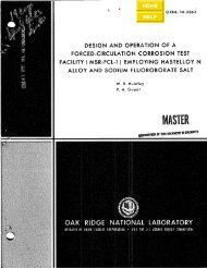 Design and Operation of a Forced-Circulation Corrosion Test Facility ...