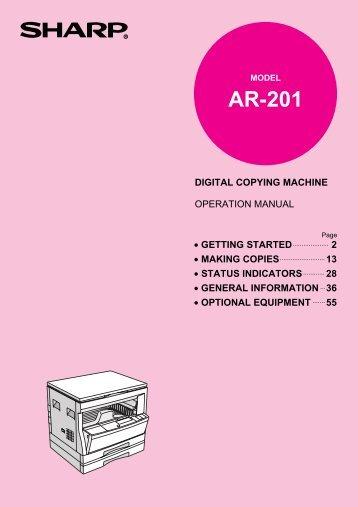 Sharp-AR201 - OlsonBros
