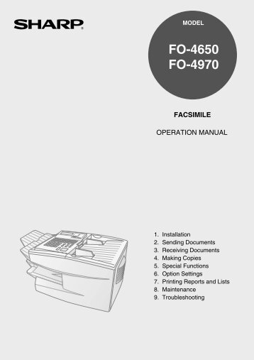 FO-4650 | FO-4970 Operation Manual - OlsonBros
