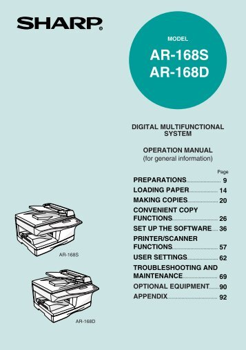 AR-168S | AR-168D Operation Manual - Pitney Bowes Canada
