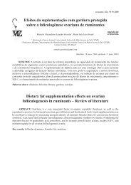 Efeitos da suplementação com gordura protegida sobre a ...