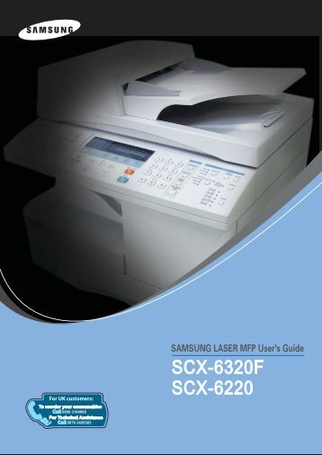 SCX-6220 Users Guide & Owners Operation Manual - OlsonBros