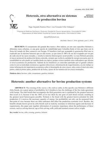 Heterosis, otra alternativa en sistemas de producción bovina ...