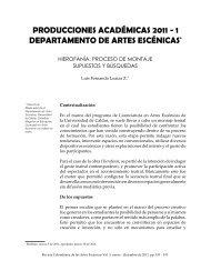 producciones académicas 2011 - 1 departamento de artes escénicas
