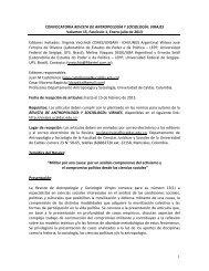 1 CONVOCATORIA REVISTA DE ANTROPOLOGÍA Y SOCIOLOGÍA ...