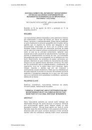 enfoque químico del deterioro y biodeterioro de rocas calcáreas ...