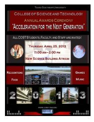 COST Annual Award Ceremony 2013 - COST Home Page - Texas ...