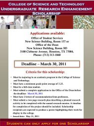 New scholarship announcements - COST Home Page - Texas ...