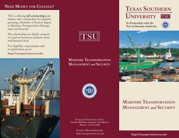 Maritime Transportation & Security - COST Home Page - Texas ...