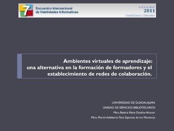 una alternativa en la formación de formadores - Biblioteca Virtual
