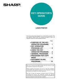 KEY OPERATOR PROGRAMS - Pitney Bowes Canada