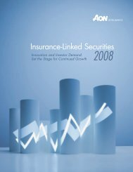 Insurance-Linked Securities Report 2008 - Aon