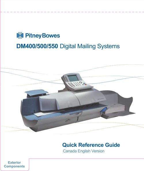 Pitney bowes dm400 dm500 dm550 complete parts & service manual.