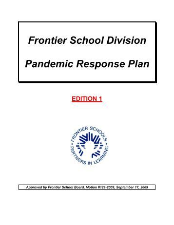 Writing frames booklet frontier school division for Pandemic preparedness plan template