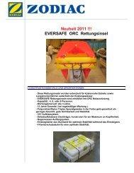 Zodiac Rettungsinsel Eversafe - zu Boote Pfister