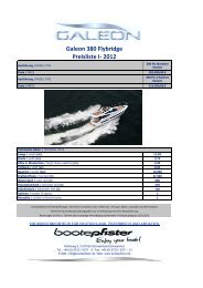 Galeon 380 Flybridge Preisliste I- 2012 - zu Boote Pfister