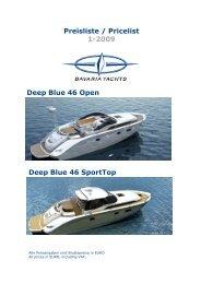 Deep Blue 46 Open Preisliste / Pricelist 1-2009 ... - zu Boote Pfister
