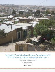 Spurring Sustainable Urban Development - Millennium Cities Initiative