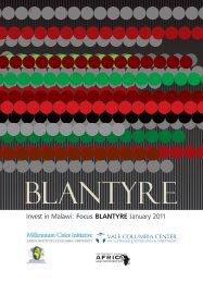 Invest in Malawi: Focus Blantyre - Millennium Cities Initiative ...