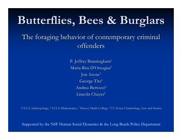 Butterflies, Bees & Burglars - Eclectic Anthropology Server