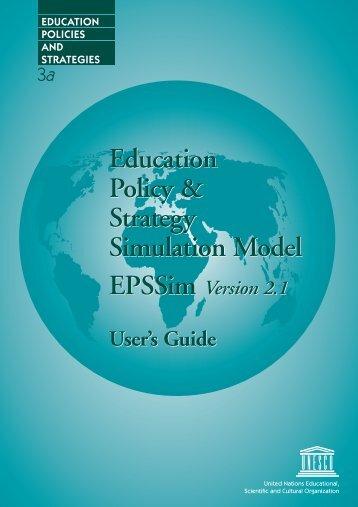 EPSSim Guide de l'utilisateur - the INESM Website - Unesco
