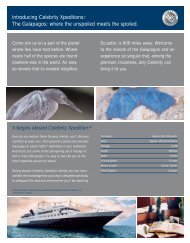 CEDCORG4002 XpeditionsFactSheet - Celebrity Cruises