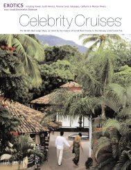 Including Hawaii, South America, Panama Canal ... - Celebrity Cruises