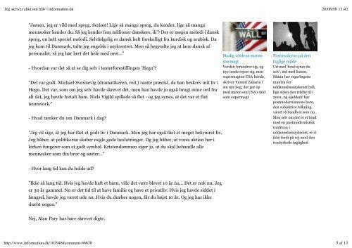'Jeg skriver altid om håb' | information.dk - Kenneth Krabat ...