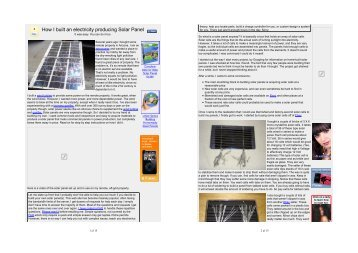 How I built an electricity producing Solar Panel - Kenneth Krabat ...