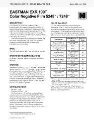 EASTMAN EXR 100T Color Negative Film 5248™ / 7248™
