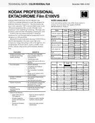 KODAK PROFESSIONAL EKTACHROME Film E100VS - 125px