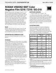 KODAK VISION2 500T Color Negative Film 5218 / 7218 ... - 125px
