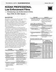 KODAK PROFESSIONAL Law Enforcement Films - 125px