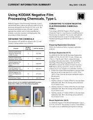 Using KODAK Negative Film Processing Chemicals, Type L - 125px
