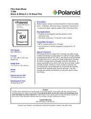 T-804 (Polapan Pro 100) Film Data Sheet - 125px