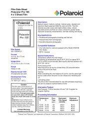 Polacolor Pro 100 Film Data Sheet - 125px