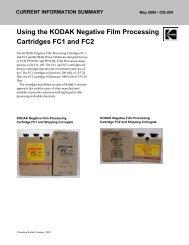 Using the KODAK Negative Film Processing Cartridges FC1 ... - 125px