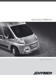 Listino Prezzi HYMER Car - COL Magazine