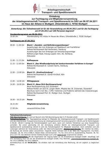 Einladung zur Fachtagung und Mitgliederversammlung der ...