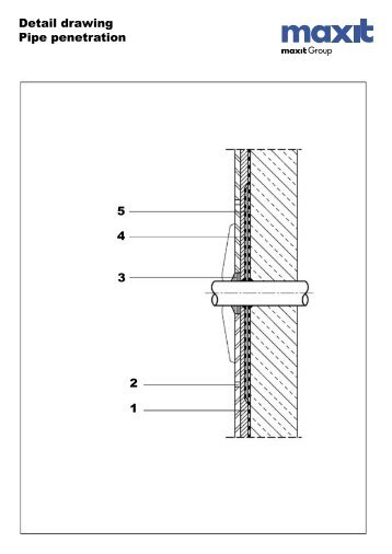 Conduit wall penetration detail dwg share your