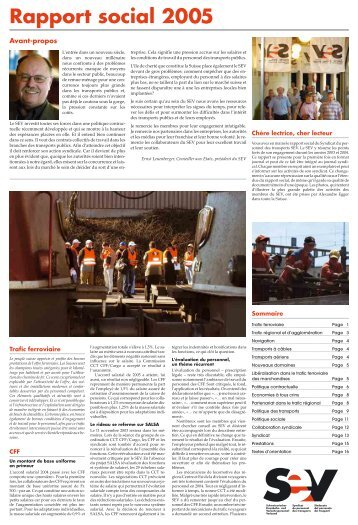 Rapport social 2005 - SEV