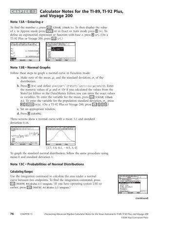 Calculator Notes For Ti 89 Ti 92 Plus And Voyage 200 Pdf