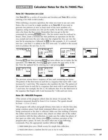 Calculator Notes for Casio fx-7400G Plus (PDF)