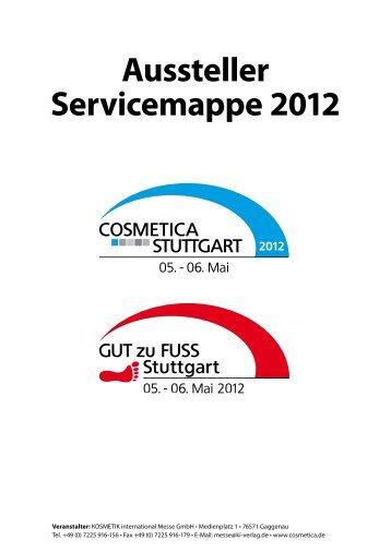 Aussteller-Servicemappe COSMETICA Stuttgart 2011