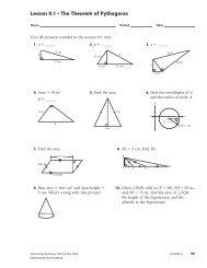 Lesson 9.1 • The Theorem of Pythagoras