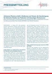 PRESSEMITTEILUNG - Antisense Pharma
