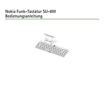 Nokia Funk-Tastatur SU-8W Bedienungsanleitung